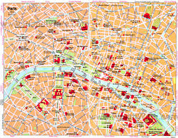 Pdf Maps Download Map Of Paris With Tourist Attractions Major Tourist