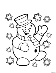 snowman 3 coloring page free coloring pages online