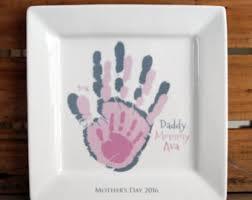 keepsake plate handprint plate etsy