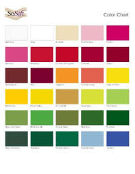 colour charts from suppliers