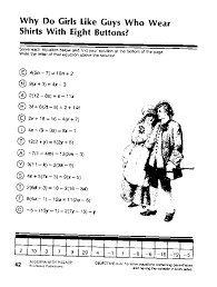 algebra with pizzazz worksheets 28 templates did you hear