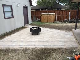 how to make a paver seating area full diy tutorial