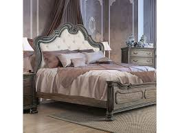 Eastern King Bed Ariadne Rustic Natural Tone Eastern King Bed