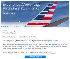 American Airlines Help Desk Aa Targets Aadvantage Members With Free Platinum Status