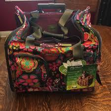 bloom bags bloom handbags woof woof bloom wheeled dog carrier