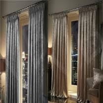 Silk Velvet Curtains Velvet Plush Crushed Curtains