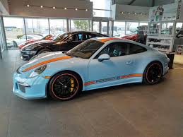 teal porsche porsche 911 r in gulf oil racing livery racks up many likes on