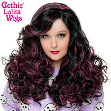 lace front peek a boo black with pink highlights 00694