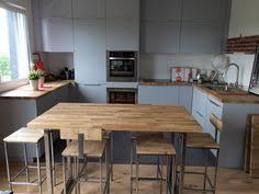 cuisine bois acier table cuisine bois brut simple table de cuisine pour table en bois
