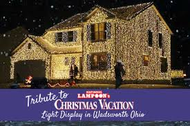 christmas light displays in ohio tribute to national loon s christmas vacation light display