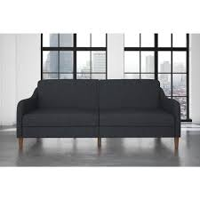 dhp premium westbury linen pillowtop twin double size futon in