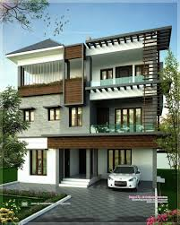 house design at kerala apartments three story building design latest storey house
