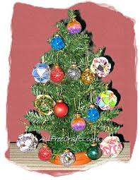 recycled card ornaments all free crafts