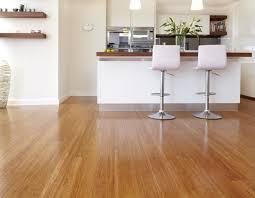 Bamboo Bar Top Interior Modern Kitchen Design Using White Kitchen Cabinet And