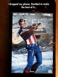 Broken Phone Meme - made the best out of a broken phone screen marvel cinematic