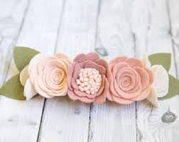 felt headbands felt flower headband etsy