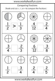 Subtraction Worksheets For 1st Grade Free Fraction Worksheet Photocito