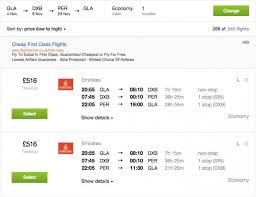 cheap emirates flights to perth 490 return