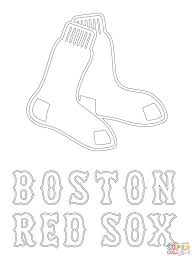 boston red sox logo coloring page free printable coloring pages