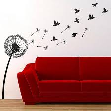 wall stickers oakdenedesigns com dandelion and birds wall sticker oakdene designs 1