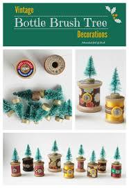 vintage bottle brush tree decorations adirondack