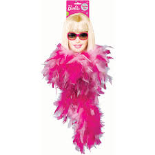 barbie party supplies all doll u0027d up feather boa at toystop
