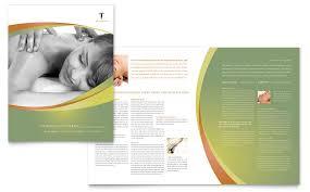 massage u0026 chiropractic brochure template word u0026 publisher