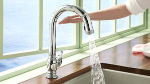 glacier bay touchless led single touchless kitchen faucet pull kitchen faucet with free