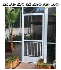 Patio Door Gates Half Screen Door Grille On Etsy We Need One For Our Sliding