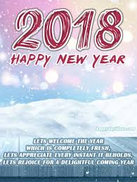 greetings for new year happy new year 2018 greetings card happydayideas
