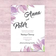 weeding card floral wedding card design vector free