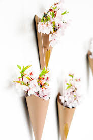 Flower Vase Decoration Home Diy Hanging Flower Cone Wall Decor I Wonder If Paper Tubes Would