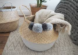 ikea baskets diy painted seagrass basket ikea hack made up style