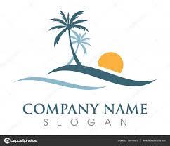 palm tree logo template u2014 stock vector elaelo 134769972