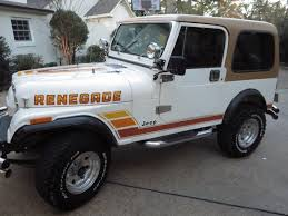 jeep renegade white 1984 jeep cj7 a c and hardtop make offer renegade cj 7 for