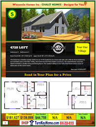 4720 loft e1 wisconsin homes inc modular chalet home plan price