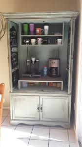Repurpose Cabinet Doors by Inside Pic Of My Oak Armoire To Coffee Bar Hubby Made The Upper