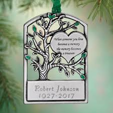 personalized pewter memorial tree ornament kimball