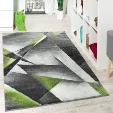 Wohnzimmer Hoch Modern Wohnzimmer Teppich Modern Grau Grün Mit Konturenschnitt Malmo