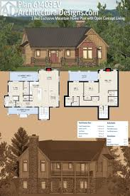 Sloped Lot House Plans 264 Best Rugged And Rustic House Plans Images On Pinterest