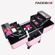 cheap professional makeup 2016 facebox brand three layer makeup box with trolley beauty