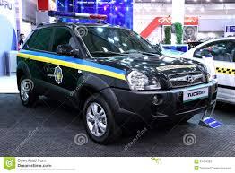 hyundai crossover hyundai tucson police crossover jeep editorial stock photo image