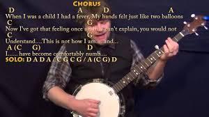 Pink Floyd Comfortably Numb Lyrics And Chords Comfortably Numb Pink Floyd Banjo Cover Lesson With Chords