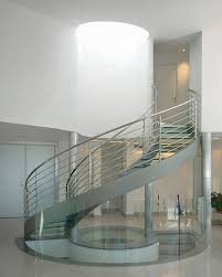 Banister Glass United States Staircase Skylight Contemporary With Banister Drum