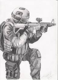 soldier tonal drawing by kanetilly on deviantart