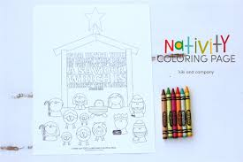 nativity coloring design dazzle