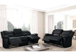 r arateur de canap canape relax 2 places cuir canapac relaxation coloris gris