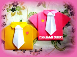 diy paper crafts how to make an origami paper shirts with tie
