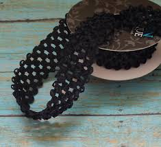 crochet elastic ribbon black elastic waffle crochet ribbon 2 yards x 1 5 inches