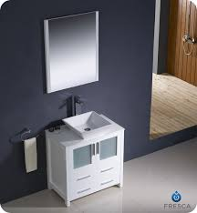 30 Inch Modern Bathroom Vanity contemporary single vanities fresca torino 30